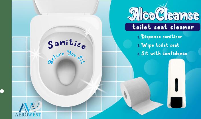 AlcoCleanse Toilet Seat Sanitizer