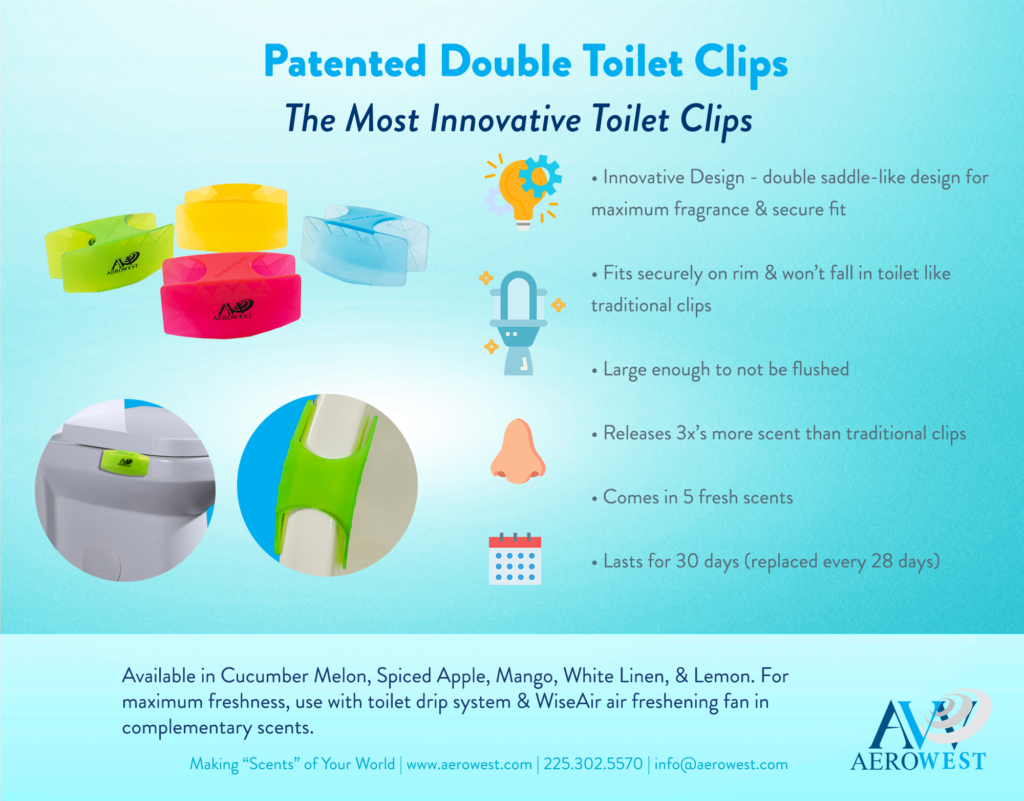 double toilet clips